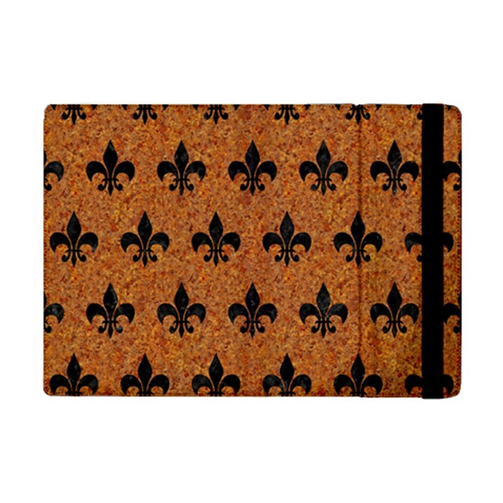 ROYAL1 BLACK MARBLE & RUSTED METAL (R) iPad Mini 2 Flip Cases