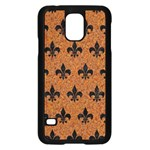 ROYAL1 BLACK MARBLE & RUSTED METAL (R) Samsung Galaxy S5 Case (Black) Front