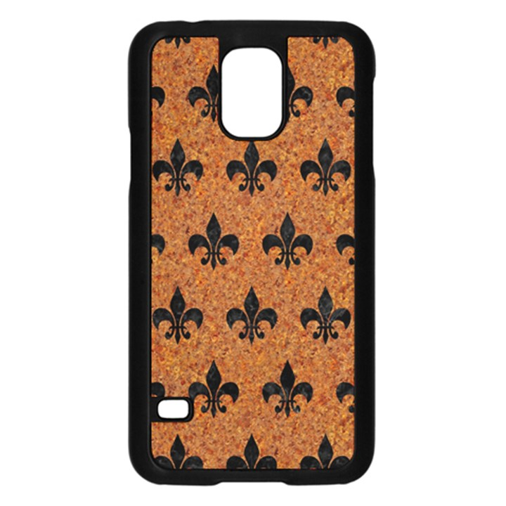 ROYAL1 BLACK MARBLE & RUSTED METAL (R) Samsung Galaxy S5 Case (Black)