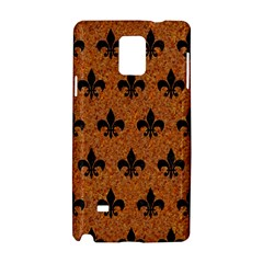 Royal1 Black Marble & Rusted Metal (r) Samsung Galaxy Note 4 Hardshell Case