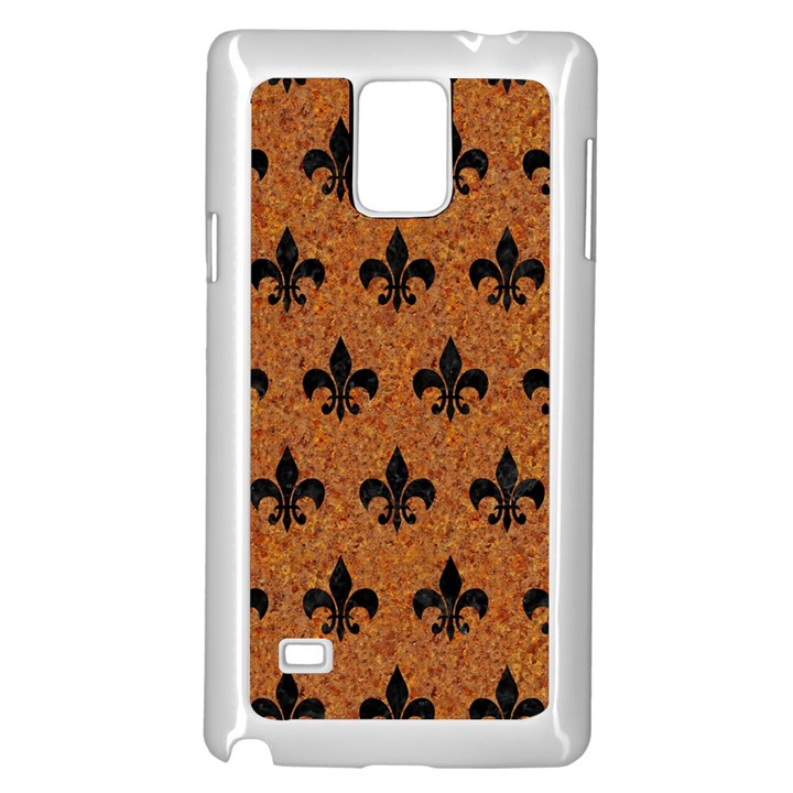 ROYAL1 BLACK MARBLE & RUSTED METAL (R) Samsung Galaxy Note 4 Case (White)