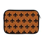ROYAL1 BLACK MARBLE & RUSTED METAL (R) Apple MacBook Pro 17  Zipper Case Front