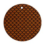 SCALES1 BLACK MARBLE & RUSTED METAL Ornament (Round) Front