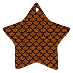 SCALES1 BLACK MARBLE & RUSTED METAL Ornament (Star) Front
