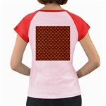 SCALES1 BLACK MARBLE & RUSTED METAL Women s Cap Sleeve T-Shirt Back
