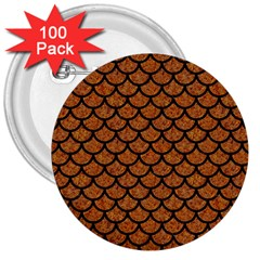 Scales1 Black Marble & Rusted Metal 3  Buttons (100 Pack)