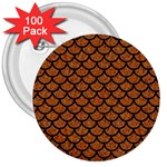 SCALES1 BLACK MARBLE & RUSTED METAL 3  Buttons (100 pack)  Front