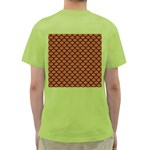 SCALES1 BLACK MARBLE & RUSTED METAL Green T-Shirt Back