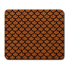 Scales1 Black Marble & Rusted Metal Large Mousepads