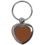 SCALES1 BLACK MARBLE & RUSTED METAL Key Chains (Heart)  Front