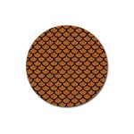 SCALES1 BLACK MARBLE & RUSTED METAL Magnet 3  (Round) Front
