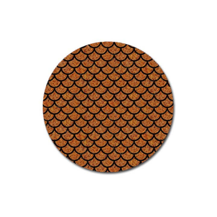 SCALES1 BLACK MARBLE & RUSTED METAL Magnet 3  (Round)