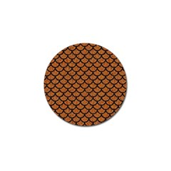 Scales1 Black Marble & Rusted Metal Golf Ball Marker (4 Pack)