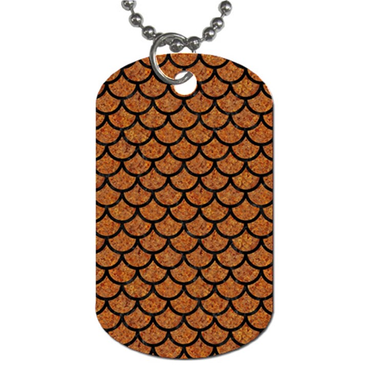 SCALES1 BLACK MARBLE & RUSTED METAL Dog Tag (Two Sides)