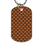 SCALES1 BLACK MARBLE & RUSTED METAL Dog Tag (Two Sides) Back