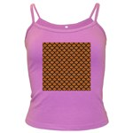 SCALES1 BLACK MARBLE & RUSTED METAL Dark Spaghetti Tank Front