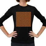 SCALES1 BLACK MARBLE & RUSTED METAL Women s Long Sleeve Dark T-Shirts Front