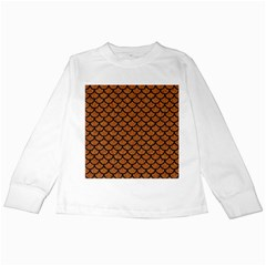 Scales1 Black Marble & Rusted Metal Kids Long Sleeve T Shirts