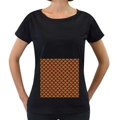 Scales1 Black Marble & Rusted Metal Women s Loose Fit T Shirt (black)