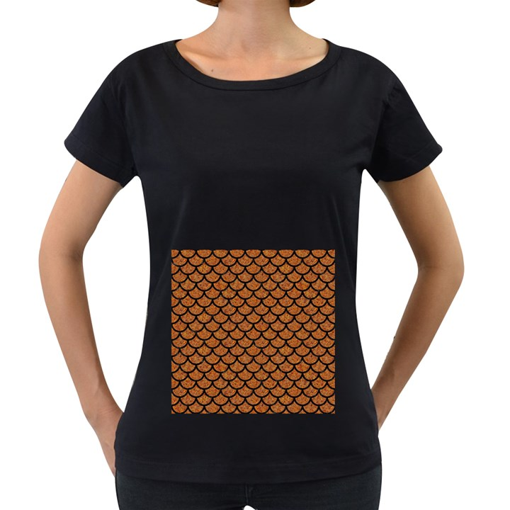 SCALES1 BLACK MARBLE & RUSTED METAL Women s Loose-Fit T-Shirt (Black)