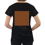SCALES1 BLACK MARBLE & RUSTED METAL Women s Loose-Fit T-Shirt (Black) Back