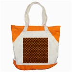SCALES1 BLACK MARBLE & RUSTED METAL Accent Tote Bag Front