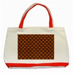 SCALES1 BLACK MARBLE & RUSTED METAL Classic Tote Bag (Red) Front