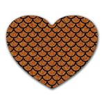 SCALES1 BLACK MARBLE & RUSTED METAL Heart Mousepads Front
