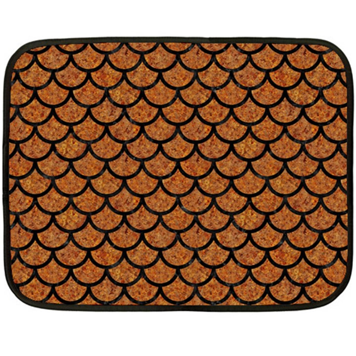 SCALES1 BLACK MARBLE & RUSTED METAL Fleece Blanket (Mini)