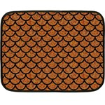SCALES1 BLACK MARBLE & RUSTED METAL Double Sided Fleece Blanket (Mini)  35 x27 Blanket Front