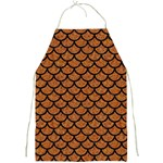 SCALES1 BLACK MARBLE & RUSTED METAL Full Print Aprons Front