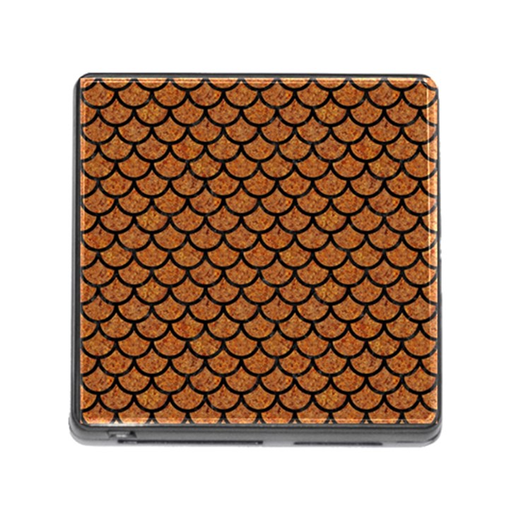 SCALES1 BLACK MARBLE & RUSTED METAL Memory Card Reader (Square)
