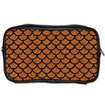 SCALES1 BLACK MARBLE & RUSTED METAL Toiletries Bags 2-Side Front