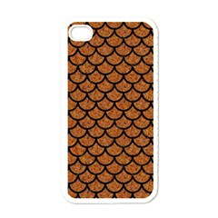 Scales1 Black Marble & Rusted Metal Apple Iphone 4 Case (white)
