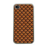 SCALES1 BLACK MARBLE & RUSTED METAL Apple iPhone 4 Case (Clear) Front