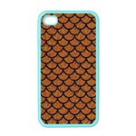 SCALES1 BLACK MARBLE & RUSTED METAL Apple iPhone 4 Case (Color) Front