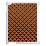 SCALES1 BLACK MARBLE & RUSTED METAL Apple iPad 2 Case (White) Front