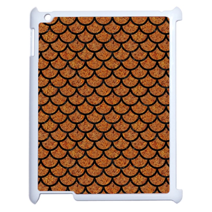 SCALES1 BLACK MARBLE & RUSTED METAL Apple iPad 2 Case (White)