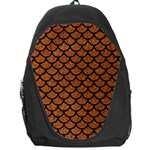 SCALES1 BLACK MARBLE & RUSTED METAL Backpack Bag Front