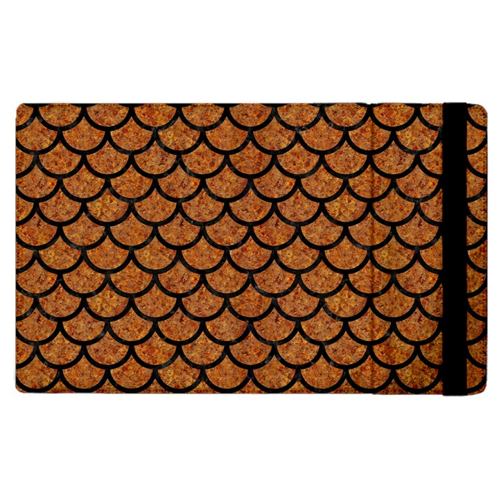 SCALES1 BLACK MARBLE & RUSTED METAL Apple iPad 2 Flip Case