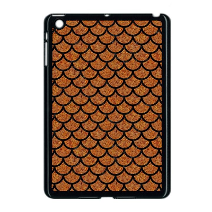 SCALES1 BLACK MARBLE & RUSTED METAL Apple iPad Mini Case (Black)
