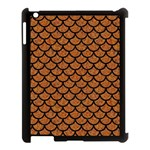 SCALES1 BLACK MARBLE & RUSTED METAL Apple iPad 3/4 Case (Black) Front