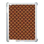 SCALES1 BLACK MARBLE & RUSTED METAL Apple iPad 3/4 Case (White) Front