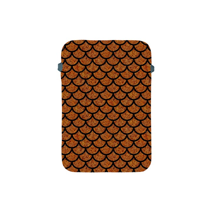 SCALES1 BLACK MARBLE & RUSTED METAL Apple iPad Mini Protective Soft Cases