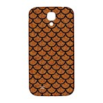 SCALES1 BLACK MARBLE & RUSTED METAL Samsung Galaxy S4 I9500/I9505  Hardshell Back Case Front