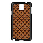 SCALES1 BLACK MARBLE & RUSTED METAL Samsung Galaxy Note 3 N9005 Case (Black) Front