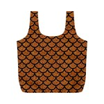 SCALES1 BLACK MARBLE & RUSTED METAL Full Print Recycle Bags (M)  Back