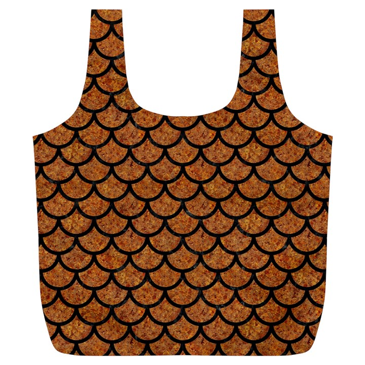 SCALES1 BLACK MARBLE & RUSTED METAL Full Print Recycle Bags (L)