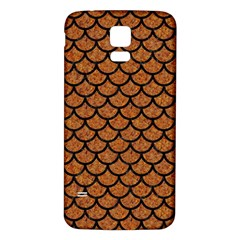Scales1 Black Marble & Rusted Metal Samsung Galaxy S5 Back Case (white)