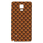 SCALES1 BLACK MARBLE & RUSTED METAL Galaxy Note 4 Back Case Front